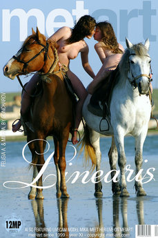 4 MetArt members tagged Felisia A & Mika A and nude pictures gallery Linearis 'riding horses'