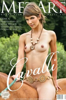 4 MetArt members tagged Demi A and erotic images gallery Cavalli 'riding horses'