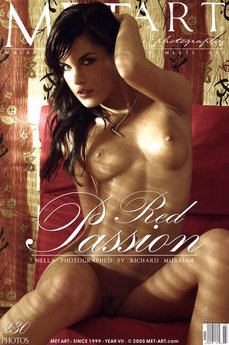 erotic photography gallery Red Passion with Nella A