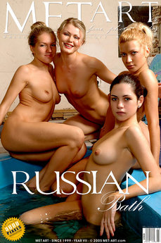 MetArt Bella A & Ingret A & Kira B & Kristina G in Russian Bath