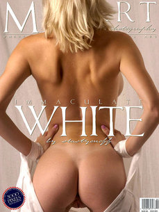 7 MetArt members tagged Narkiss and nude photos gallery Immaculate White 'white stockings'
