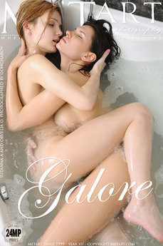 2 MetArt members tagged Orvelia O & Suzanna A and nude pictures gallery Galore 'bathtub'