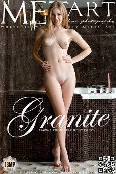 2 MetArt members tagged Flavia A and nude pictures gallery Granite 'bathtub'