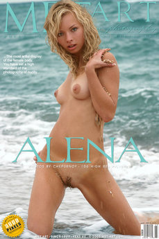 17 MetArt members tagged Alena A and erotic images gallery Alena 'beach'
