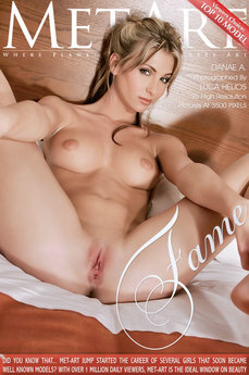 12 MetArt members tagged Danae A and nude pictures gallery Fame 'bed'