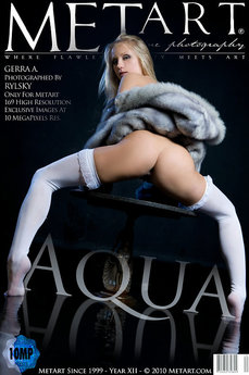 71 MetArt members tagged Gerra A and erotic images gallery Aqua 'wet'