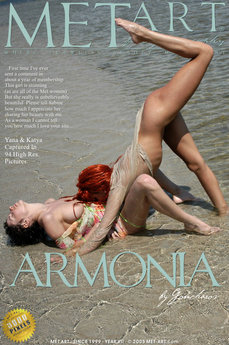 17 MetArt members tagged Rebecca B & Yana D and erotic images gallery Armonia 'beach'